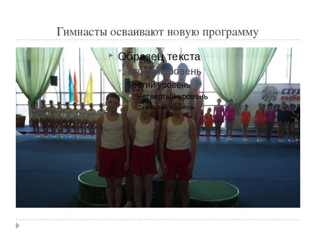 Гимнасты осваивают новую программу