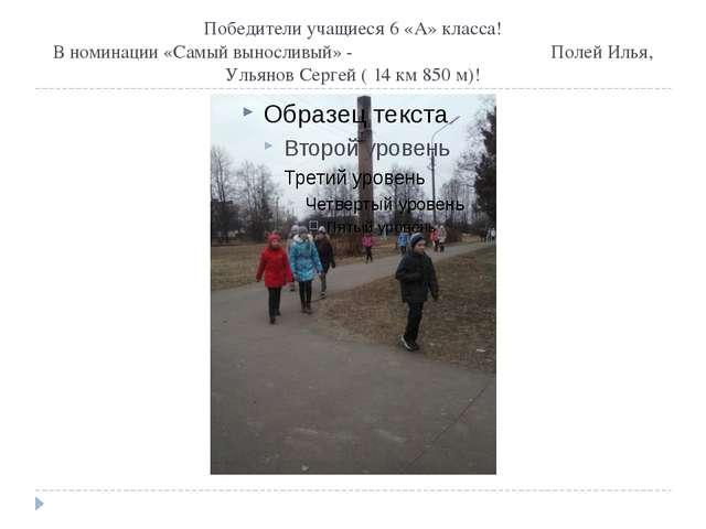 Победители учащиеся 6 «А» класса! В номинации «Самый выносливый» - Полей Илья...