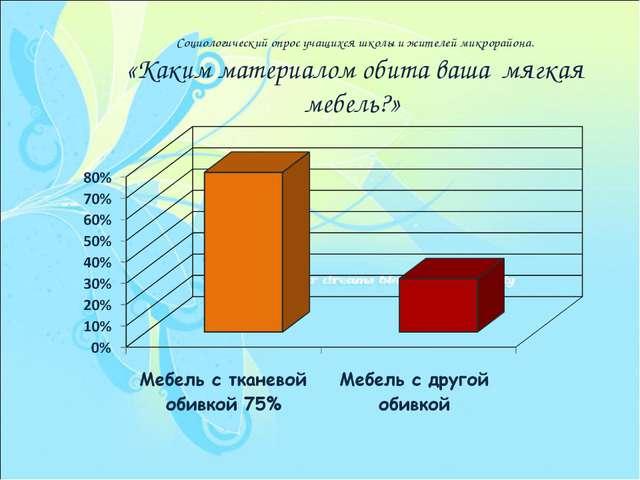 Социологический опрос учащихся школы и жителей микрорайона. «Каким материалом...