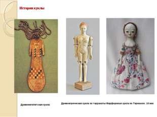 История куклы Древнегреческая кукла из терракоты Древнеегипетская кукла Фарфо
