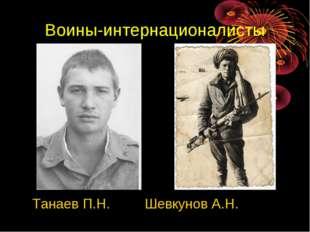 Воины-интернационалисты Танаев П.Н. Шевкунов А.Н.