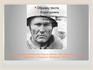 Петр Лопахин (Василий Шукшин). Кадр из фильма «Они сражались за Родину» режис