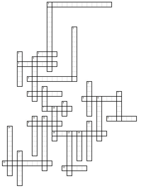 Красворд по геометрии с ответами 7 класс