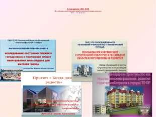 2 этап проекта (2011-2013) Исследовательские проекты профессиональной направ