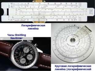 Логарифмическая линейка Часы Breitling Navitimer Круговая логарифмическая лин