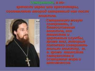 Священники, а по-греческииереиилипресвитеры, составляют второй священный ч