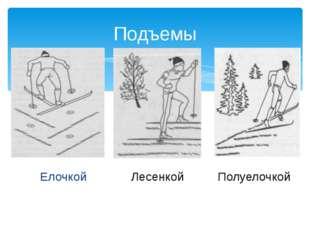 Елочкой Подъемы Полуелочкой Лесенкой