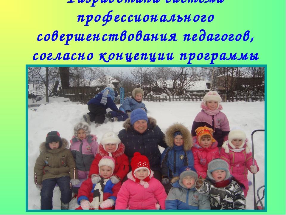 Разработана система профессионального совершенствования педагогов, согласно к...