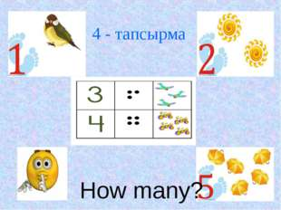 How many? 4 - тапсырма