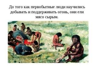 До того как первобытные люди научились добывать и поддерживать огонь, они ели