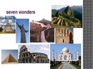 seven wonders