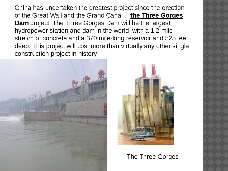 China has undertaken the greatest project since the erection of the Great Wal...