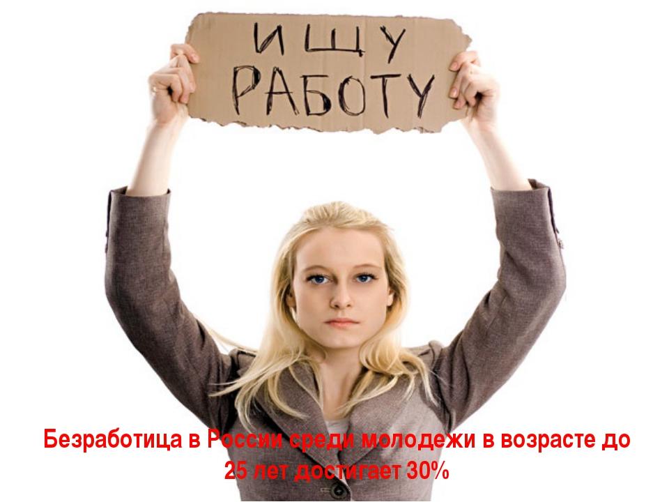 Безработица в России среди молодежи в возрасте до 25 лет достигает 30%