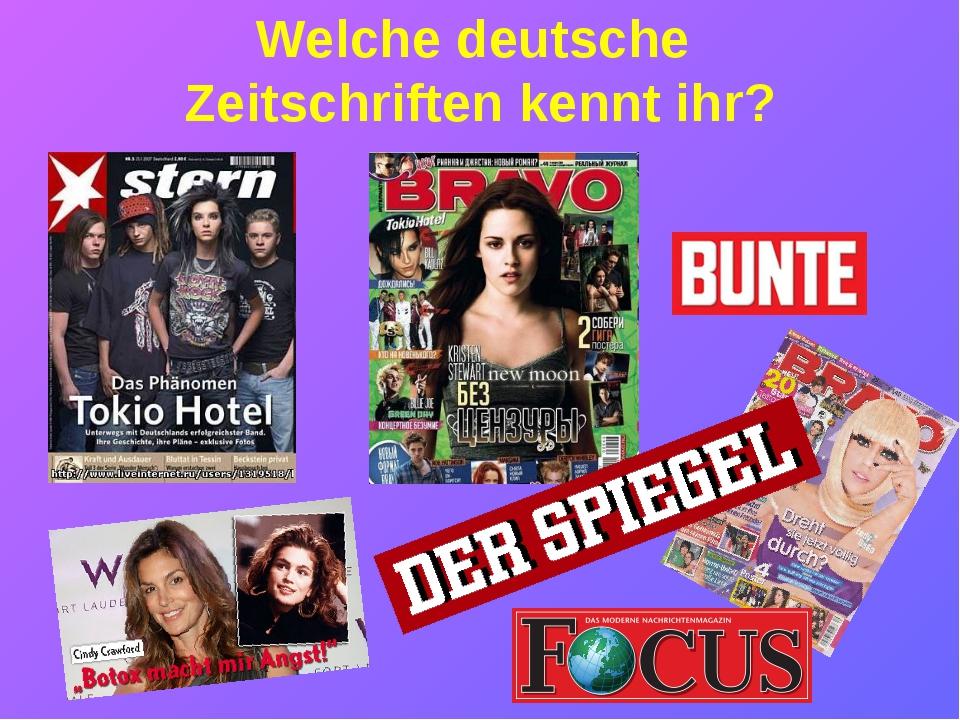 """Welche deutsche Zeitschriften kennt ihr? """" Stern"""""""