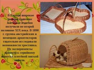 В Европе широкое распространение плетёные изделия получили во второй половине