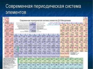 Современная периодическая система элементов