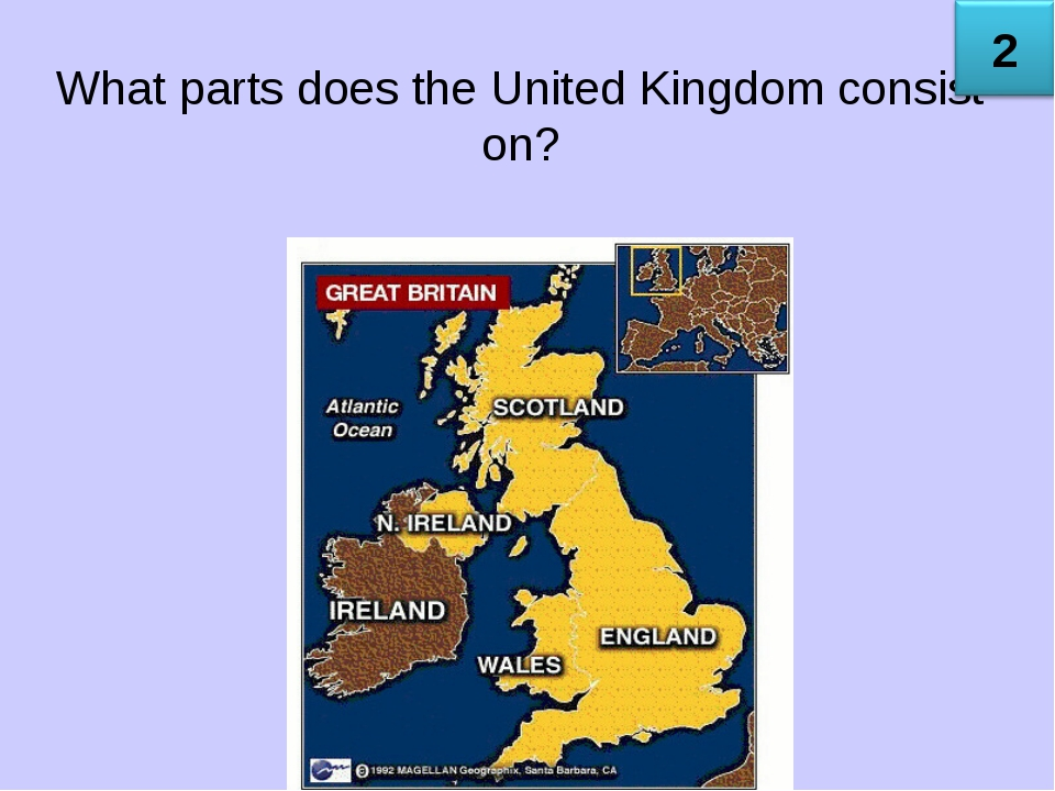 What parts does the United Kingdom consist on?