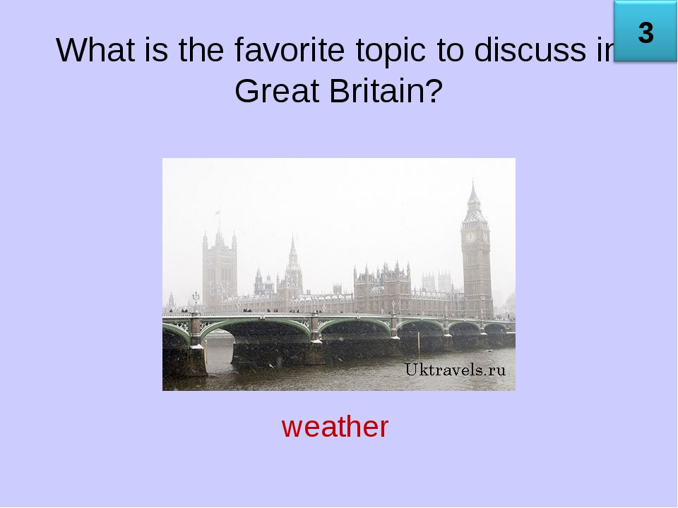 What is the favorite topic to discuss in Great Britain? weather