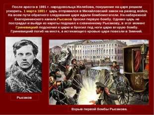 После ареста в 1881 г. народовольца Желябова, покушение на царя решили ускори