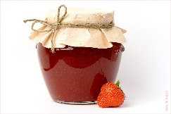 Strawberry jam jar из Ekaterina Fribus, Роялти-фри стоковое фото #10599668 на Fotolia.ru
