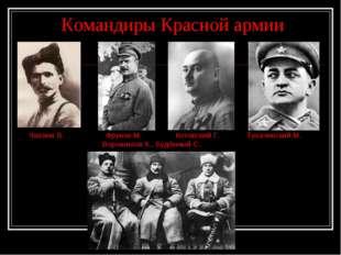 Командиры Красной армии Чапаев В. Фрунзе М. Котовский Г. Тухачевский М. Воро