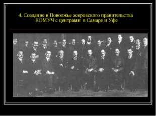 4. Создание в Поволжье эсеровского правительства КОМУЧ с центрами в Самаре и