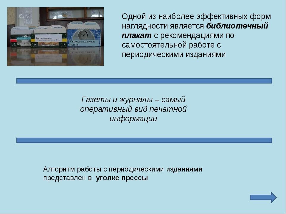 Одной из наиболее эффективных форм наглядности является библиотечный плакат с...
