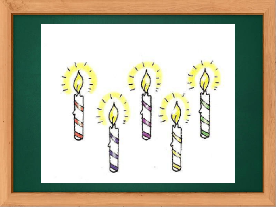 The revision of numbers. How many candles can you see on this picture?