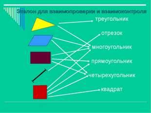 треугольник отрезок многоугольник прямоугольник четырехугольник квадрат Этало