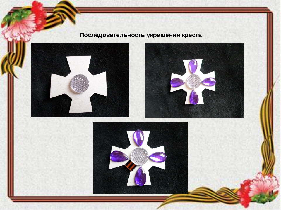 Последовательность украшения креста