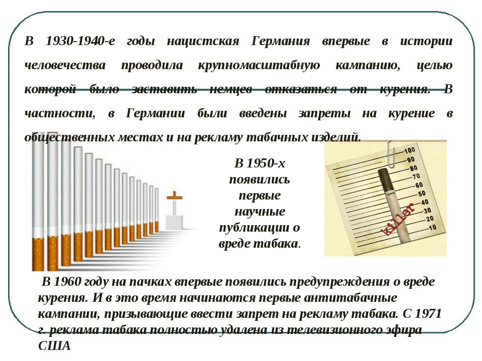 В 1960 году на пачках впервые появились предупреждения о вреде курения. И в...