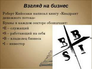 Роберт Кийосаки написал книгу «Квадрант денежного потока»  Роберт Кийосаки н