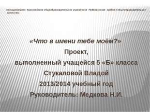 Муниципальное Казначейское общеобразовательное учреждение Подгоренская средня