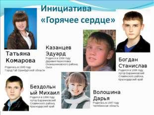 Родилась в 1995 году Город Гай Оренбургской области Татьяна Комарова Казанцев