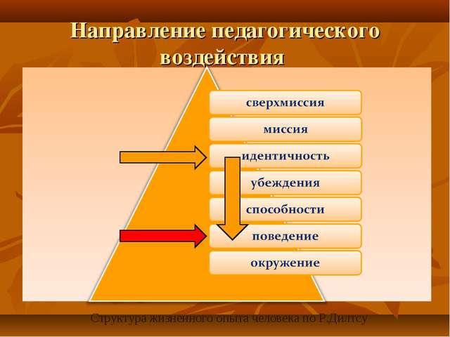 Направление педагогического воздействия . Структура жизненного опыта человека...