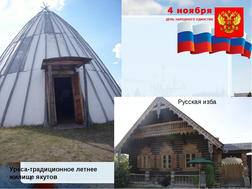 Ураса-традиционное летнее жилищеякутов Русская изба