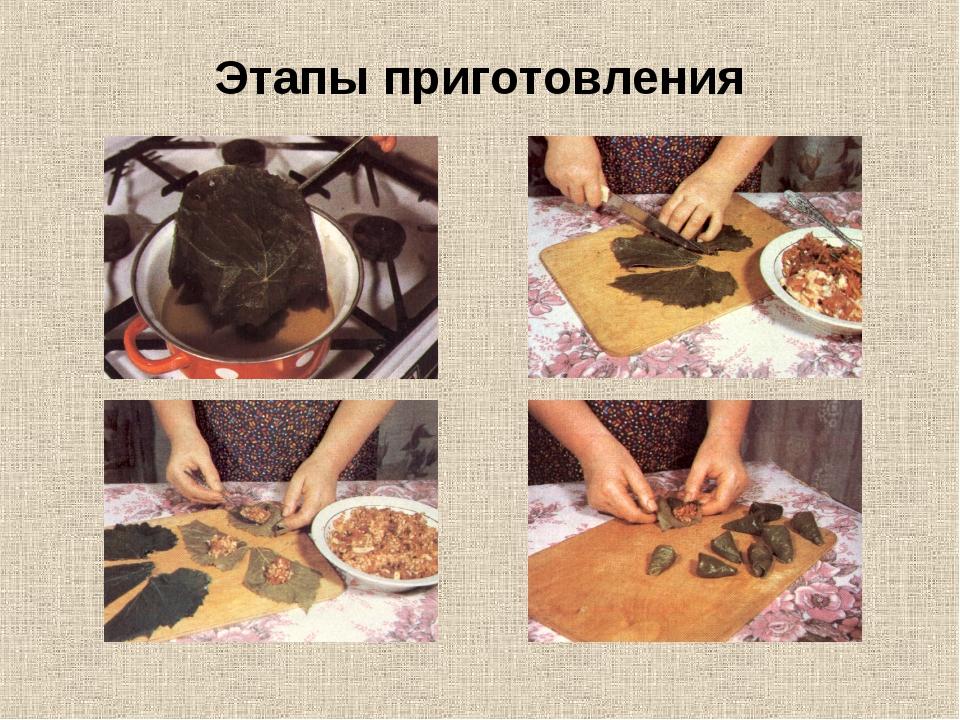 Этапы приготовления