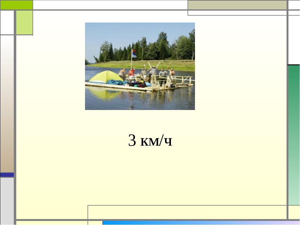 3 км/ч