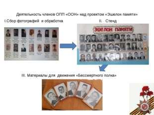 Деятельность членов ОПП «ООН» над проектом «Эшелон памяти» I.Сбор фотографий