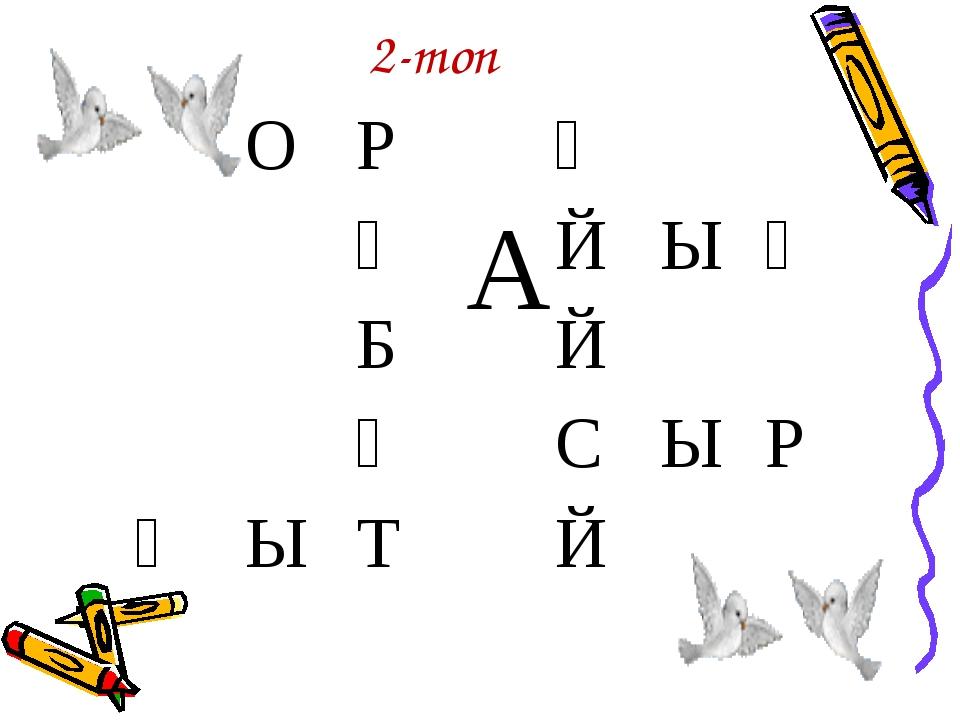2-топ ОР АҚ ҚЙЫҢ БЙ ҒСЫР ҚЫТЙ