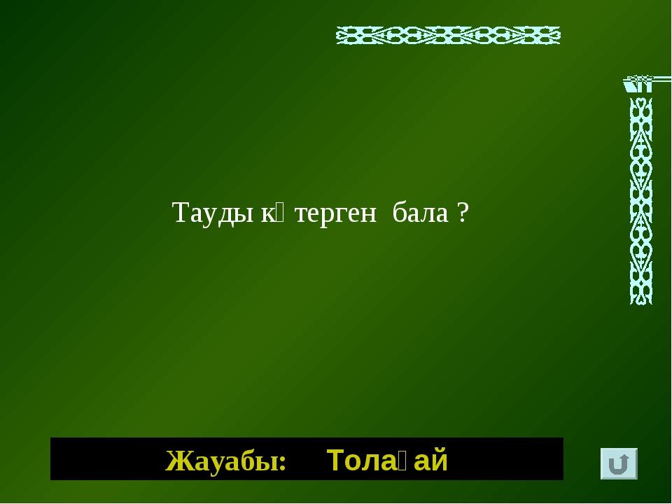 Жауабы: Толағай Тауды көтерген бала ?