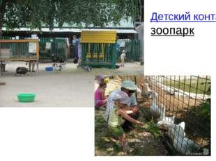 Детский контактный зоопарк