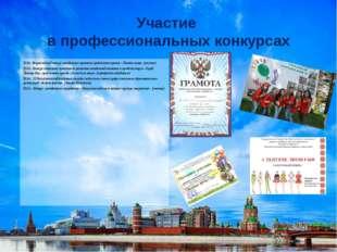 Участие в профессиональных конкурсах 2013 г. Всероссийский конкурс молодежных