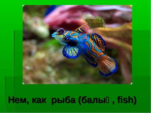 Нем, как рыба (балық, fish)