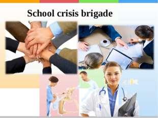 School crisis brigade