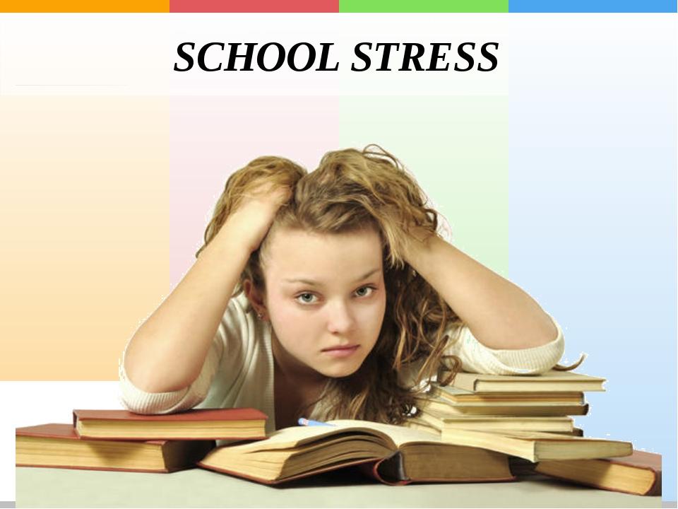 how i relieve my stress in school