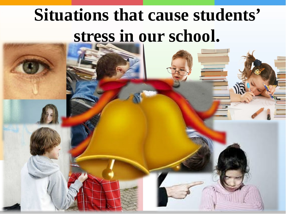 Situations that cause students' stress in our school.
