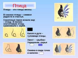 Птица Птицы - это гонцы весны. В сказках птицы – символ радости и счастья. Ск