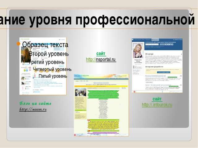 Блог на сайте http://мaam.ru сайт http://.infourok.ru сайт http://nsportal.ru...