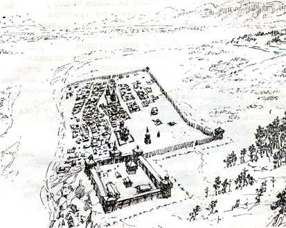 Острог был выстроен в форме пятиугольника